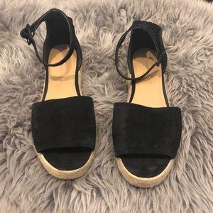 Banana Republic black platform espadrilles, size 8